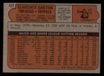 1972 Topps #431  Cito Gaston  Back Thumbnail
