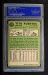 1967 Topps #177  Tito Fuentes  Back Thumbnail