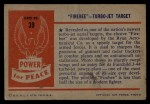 1954 Bowman Power for Peace #39   Firebee - Turbo-Jet Target Back Thumbnail