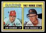 1967 Topps #384   -  Dick Hughes / Jim Cosman Cardinals Rookies Front Thumbnail