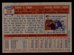 1957 Topps #88  Harvey Kuenn  Back Thumbnail