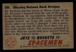 1951 Bowman Jets Rockets and Spacemen #30   Slaying Deimos Rock Dragon Back Thumbnail