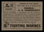 1953 Topps Fighting Marines #42   General A.A. Vandergrift Back Thumbnail