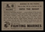 1953 Topps Fighting Marines #41   Into The Night Back Thumbnail