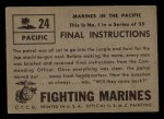 1953 Topps Fighting Marines #24   Final Instructions Back Thumbnail