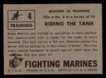 1953 Topps Fighting Marines #4   Riding The Tank Back Thumbnail