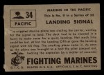 1953 Topps Fighting Marines #34   Landing Signal Back Thumbnail