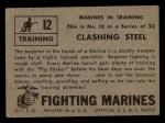 1953 Topps Fighting Marines #12   Clashing Steel Back Thumbnail