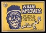 1970 Topps #450   -  Willie McCovey All-Star Back Thumbnail