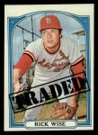 1972 Topps #756   -  Rick Wise Traded Front Thumbnail