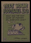 1972 Topps #342   -  Larry Brown     Pro Action Back Thumbnail