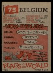 1956 Topps Flags of the World #75   Belgium Back Thumbnail