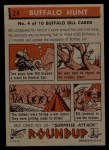 1956 Topps Round Up #24   -  Buffalo Bill Buffalo Hunt Back Thumbnail