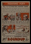 1956 Topps Round Up #7   -  Wild Bill Hickok  Fighting Fury Back Thumbnail