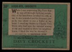 1956 Topps Davy Crockett Green Back #38   Good-Bye Back Thumbnail