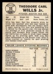 1960 Leaf #56  Ted Wills  Back Thumbnail