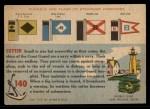 1955 Topps Rails & Sails #140   U.S.C.G.C. Comanche Back Thumbnail
