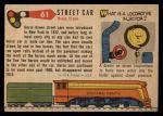 1955 Topps Rails & Sails #61   Street Car Back Thumbnail
