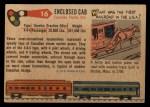 1955 Topps Rails & Sails #16   Enclosed Cab Locomotive Back Thumbnail