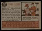 1962 Topps #485  Pedro Ramos  Back Thumbnail