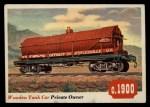 1955 Topps Rails & Sails #14   Wooden Tank Car Front Thumbnail