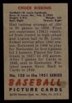 1951 Bowman #158  Chuck Diering  Back Thumbnail