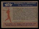 1959 Fleer #76   -  Ted Williams On Base Record Back Thumbnail