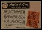 1955 Bowman #289  Arthur Gore  Back Thumbnail