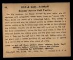 1941 Gum Inc Uncle Sam #94   Bomber Rescue Raft Tactics Back Thumbnail