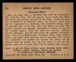 1941 Gum Inc Uncle Sam #22   Abandon Ship Back Thumbnail