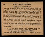 1941 Gum Inc Uncle Sam #52   Ski Troops And Patrols Back Thumbnail