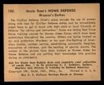 1941 Gum Inc Uncle Sam #102   Women's Duties Back Thumbnail