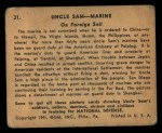 1941 Gum Inc Uncle Sam #31   On Foreign Soil Back Thumbnail