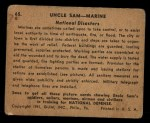 1941 Gum Inc Uncle Sam #65   National Disasters Back Thumbnail