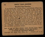 1941 Gum Inc Uncle Sam #66   Machine Gun Practice Back Thumbnail