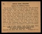 1941 Gum Inc Uncle Sam #78   Jujutsu For Military Police Back Thumbnail