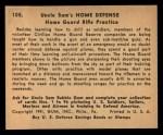 1941 Gum Inc Uncle Sam #105   Home Guard Rifle Practice Back Thumbnail