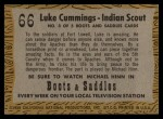 1958 Topps TV Westerns #66   Luke Cummings - Indian Scout  Back Thumbnail