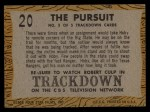 1958 Topps TV Westerns #20   The Pursuit  Back Thumbnail