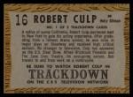 1958 Topps TV Westerns #16   Robert Culp Back Thumbnail