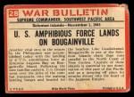 1965 Philadelphia War Bulletin #28   Over the Side Back Thumbnail