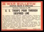 1965 Philadelphia War Bulletin #63   The Dragon's Teeth Back Thumbnail