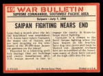 1965 Philadelphia War Bulletin #49   Flush them Out! Back Thumbnail