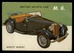 1954 Topps World on Wheels #131   M.G. Front Thumbnail