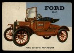 1954 Topps World on Wheels #90   Ford Fire Chief's Runabout 1915 Front Thumbnail