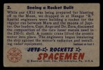 1951 Bowman Jets Rockets and Spacemen #2   Seeing Rocket Built Back Thumbnail