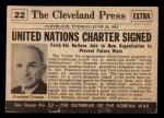 1954 Topps Scoop #22 xCOA  United Nations Born  Back Thumbnail