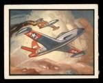 1950 Topps Freedoms War #59   F-80 Jet Front Thumbnail