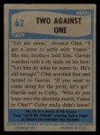 1956 Elvis Presley #62   Two Against One Back Thumbnail