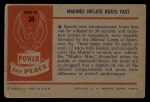 1954 Bowman Power for Peace #30   Marines Inflate Boats Fast Back Thumbnail